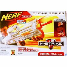 Brand New NERF N-Strike DEPLOY CS-6 Clear DART BLASTER