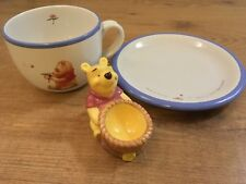 Disney Winnie The Pooh Large Cup & Saucer / Plate. Honey Pot Egg Cup Collectible