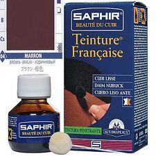 TEINTURE FRANCAISE SAPHIR CUIR LISSE NUBUCK DAIM  CUIR VELOUTE 50 ML MARRON 04