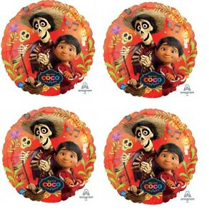 """Disney COCO 18"""" Birthday Party Favor (4ct) Mylar Foil Balloons Party Supplies"""