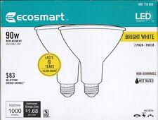 A ECOSMART LED Flood Light Bulb 90W Equivalent Wet Rated Bright White - 2 PK BOX