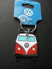 VW Camper Hippie Bus Keyring Key Keychain Chain 1.75 x 1.5 Ring Metal Enamel