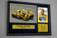 "SHANE BYRNE Motor Cycle Framed Canvas Signed ""Great Gift"""