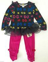 Harajuku Mini Toddler Girl's 2pc Tunic Legging by GWEN STEFANI Black Pink 2T Bow