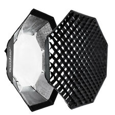 "140cm/55"" Bowens Mount Octagon Honeycomb Grid Softbox for Studio Flash Strobe"