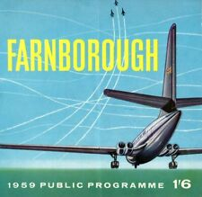Farnborough 1959 Public Programme Vintage Airshow Program Aviation