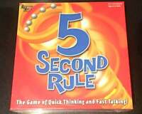 New University Games 5 Second Rule Board Game of Quick Thinking and Fast Talking