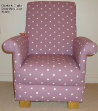 Clarke Dotty Spot Lilac Mauve Fabric Child's Chair Kids Baby Polka Dot Nursery