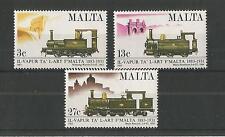 Malta 1983 ferrocarriles SG, 705-707 Um/M nh Lote 2301A