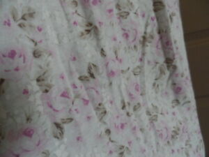 EILEEN WEST Long Night Gown long Sleeves Rose size Medium 100% Cotton NEW