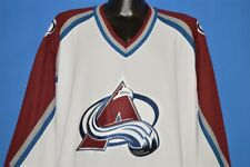 COLORADO AVALANCHE CCM MESH WHITE MAROON HOME HOCKEY NHL JERSEY SEWN ON PATCH XL