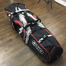Ogio Monster Sled In Line Sealed Bearing Rolling Travel Luggage Bag Red Black