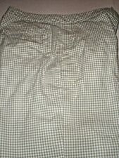 ADIDAS CHECKED SHORTS IN GREEN & WHITE  Size 10