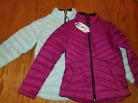 New Womens Free Country Ultra Fill Puffer Jacket Purple Berry Mint Green Coat