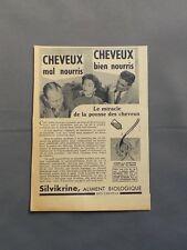 PUB PUBLICITE ANCIENNE ADVERT CLIPPING 100517 SILVIKRINE ALIMENT BIO DES CHEVEUX