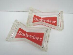 Budweiser Glass Ashtrays