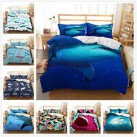 3D Sea Shark Animal Kids Bedding Set Duvet Cover Pillow Case Comforter Cover Set