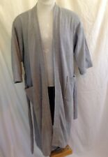 JOSEPH ABBOUD Men's Grey Belted Soft Lining Robe One Size Fits All