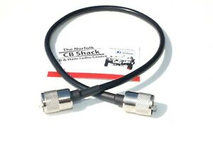 50 cm Patch Lead RG58U mil spec Coax PL259 Quality Plugs