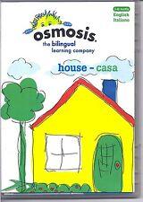 New: OSMOSIS Bilingual Learning (English-Italiano) House Casa DVD [I122]