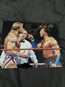 Lex Luger & Tatanka Dual Signed 8 x 10 - WWE, NXT, AEW, NWA, Impact