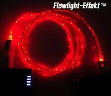 LifeShift Ladekabel für Android USB Micro B LED rot fliessend leuchtend 1m