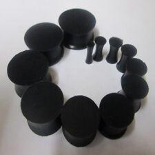 3MM-30MM FLEXIBLE EAR TUNNEL HIDER PLUG STRETCHER EXPANDER BLACK SILICONE