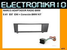 Marco de montaje   Radio BMW E81 E82 E87 E88  E90 + Conexion ISO  KIT