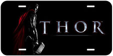 Black Thor Aluminum Novelty Auto License Plate