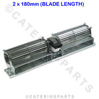 TAD18 TWIN BLADE 180mm 240 VOLT DOUBLE TANGENTIAL FAN MOTOR BLOWER COMPLETE
