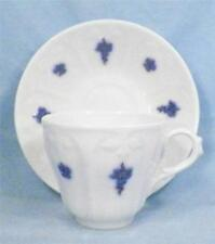 Antique Chelsea Blue Grape Cup & Saucer with Copper Luster Handled Adderley 1900