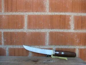 """Antique 5 1/4"""" Blade ** STAR ** Goodell Company Carbon Boning Utility Knife USA"""