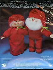 Santa OR Mrs Claus Soft Sculpture Doll - Christmas Sewing Pattern - Unpened