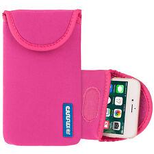 Caseflex Apple iPhone 4 / 4S Case Best Neoprene Pouch Skin Cover Hot Pink