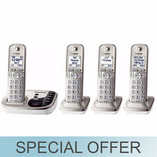 Panasonic 4 Handset Expandable Cordless Phone with Talking Caller ID - NEW