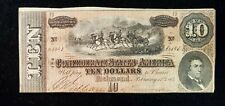 1864 CONFEDERATE STATES $10 LARGE NOTE