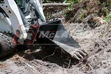 Track Loader Stump Bucket Skid Steer Heavy Duty Tree Spade Digger For Jcb
