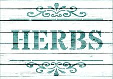 NEW A6 Stencil HERBS, Shabby Chic, Furniture, Fabric, Garden, French,