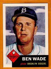 Ben Wade-Brooklyn Dodgers/1953 Topps Archive Reprint Card(1991)