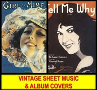 American Printable PIANO SHEET MUSIC & OLD ALBUM COVER ART Classical Songs DVD