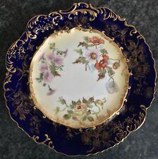 antique HAMMERSLEY porcelain FLORAL pattern CABINET PLATE 2