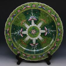 CHINESE OLD MARKED FAMILLE ROSE BUTTERFLY AND CABBAGE PATTERN PORCELAIN PLATE