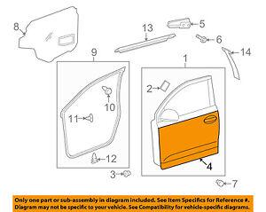 Scion TOYOTA OEM 08-14 xD-Door Skin Outer Panel Left 6711252180
