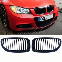 Black Front Kidney Grill Grille For  BMW E90 E91 LCI 325i 328i 335i 4D 09-11