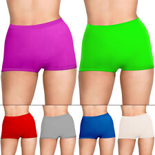 New Womens Plain Shorts Underwear Boyshorts Boxers Size 10 12 14 16 18 20 22 New