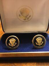Rare President George W Bush 43 Cobat VIP Cufflinks  10k KD Genuine White House
