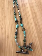 Mimco Turquoise & Teal Glass Bead Necklace