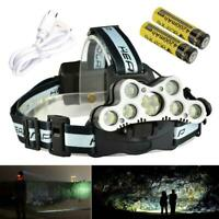 5000/80000/200000LM LED Headlamp 18650 Head Light Flashlight Torch Camping Light