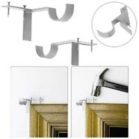 2x Single Hang Curtain Rod Holders Bracket Into Window Frame Curtain Rod Bracket