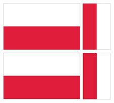 4 X POLISH POLAND FLAG VINYL CAR VAN IPAD LAPTOP STICKER